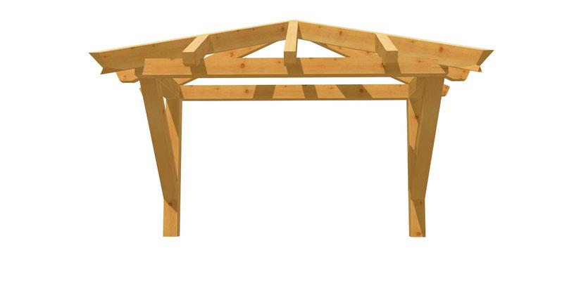 Holz Walmdach Bauplan 2m x 2,24m