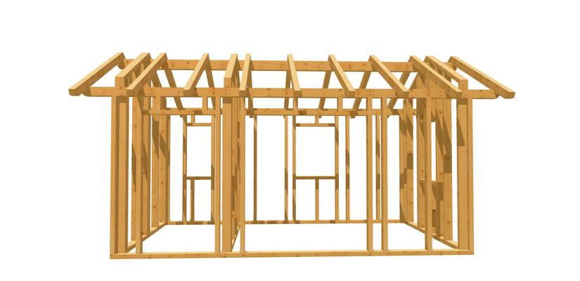 Holz Gartenhaus bauen 5m x 3m
