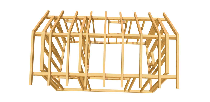 Holz Gartenhütte selber bauen 5m x 3m