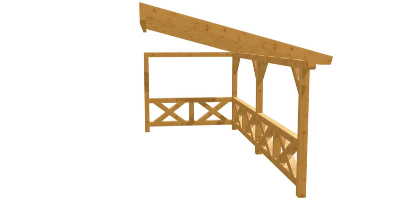 Holz Wand-Pergola