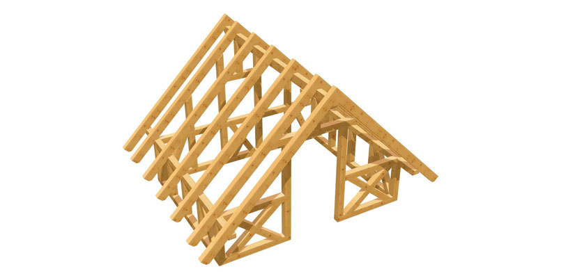 Gartenhaus Satteldach selber bauen 3m x 3,8m