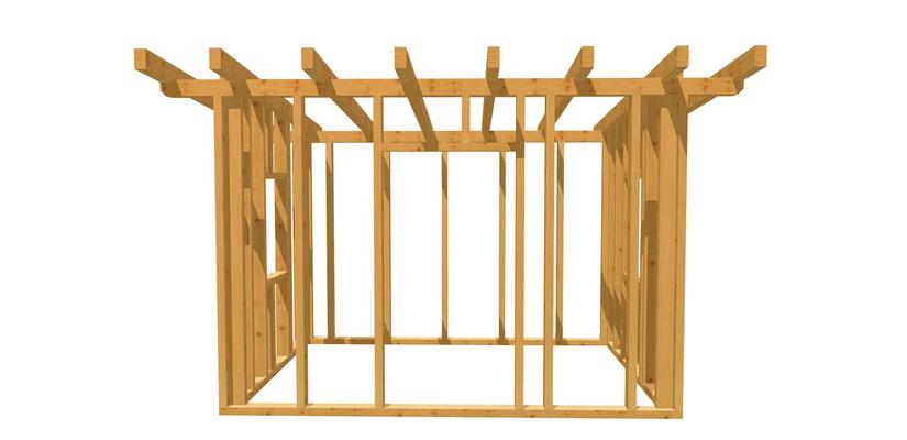 Gartenhütte selber bauen 3,5m x 2,5m