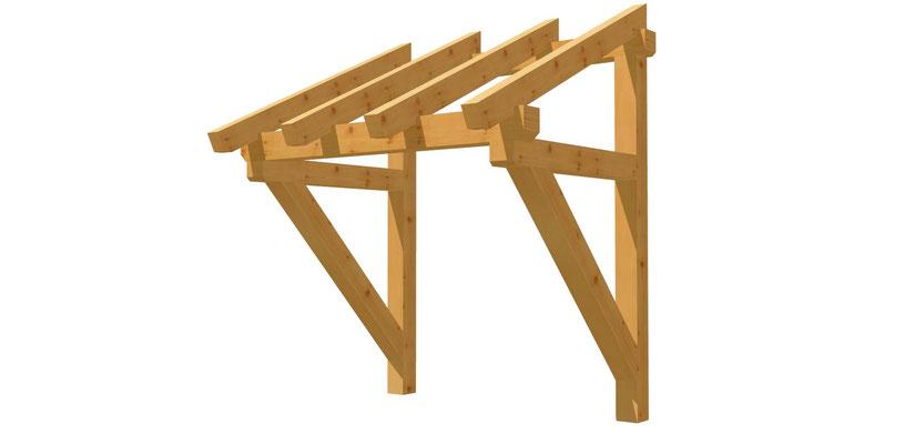 Pultdach Haustür Vordach Bauplan 1,4m x 1,74m