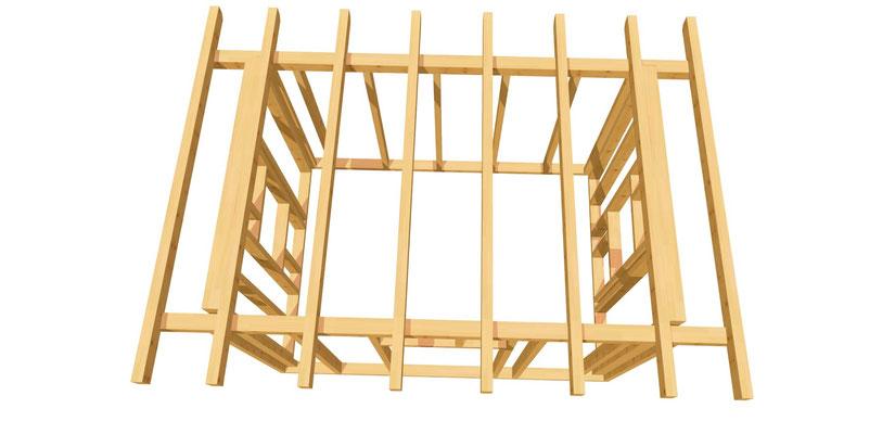 Gartenhütte Holz DIY Anleitung 3,5m x 2,5m