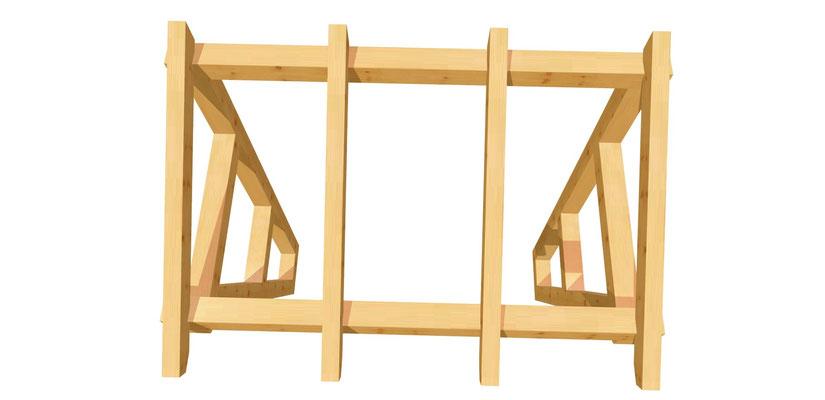 Vordach-Schleppdach Bauanleitung 2m x 2,34m