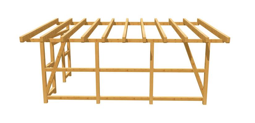Pergola Holz DIY Anleitung 6m x 4m