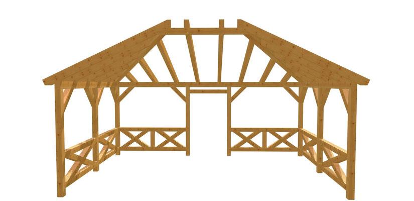 Holz Pergola Bauanleitung 6m x 4m