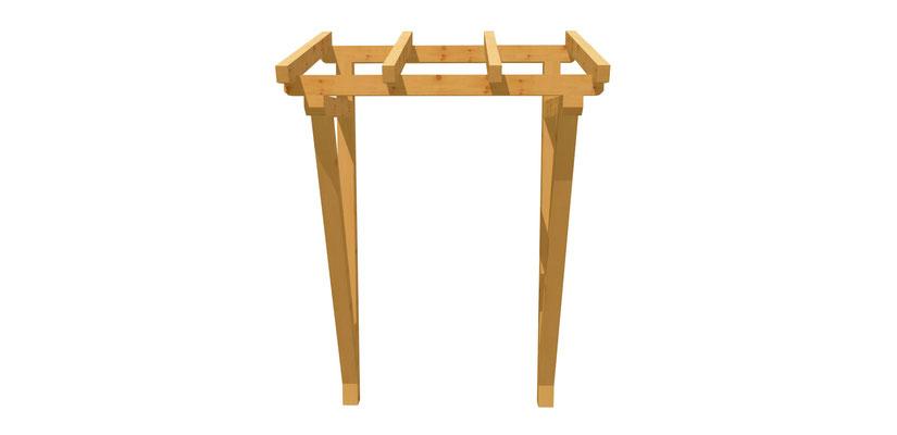 Holzvordach selber bauen 1,2m x 1,6m