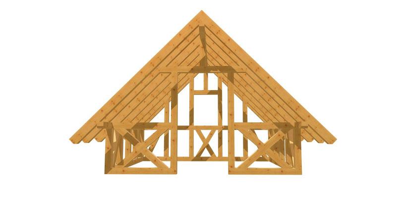 Fachwerk Gartenhaus bauen Anleitung 3m x 3,8m