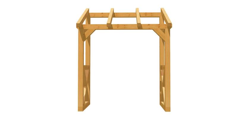 Vordach-Schleppdach Holz