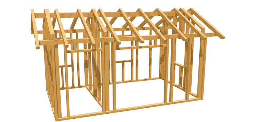 Bauanleitung Gartenhaus mit Satteldach 5m x 3m
