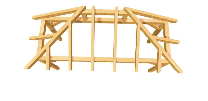 Holz Vordach selber bauen