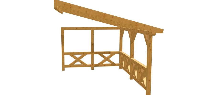 Pergola selber bauen 4,5m x 3m