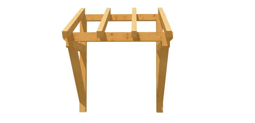 Vordach-Schleppdach selber bauen 1,4m x 1,74m