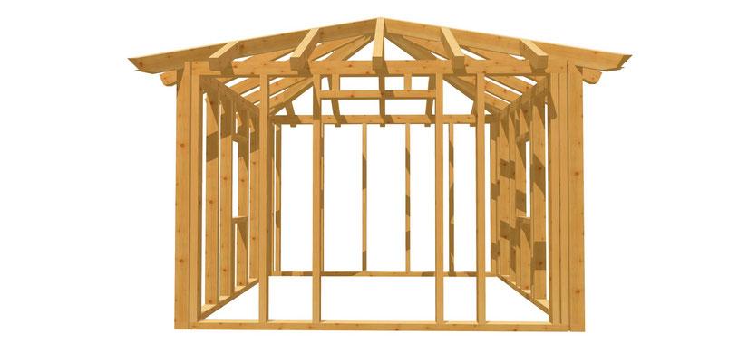 Holz Gartenhaus selber bauen 3,5m x 3,5m