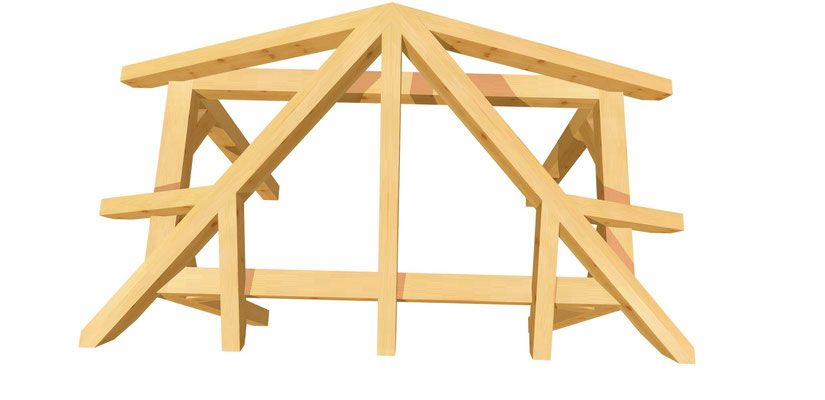 Vordach-Walmdach Bauanleitung 2m x 2,24m