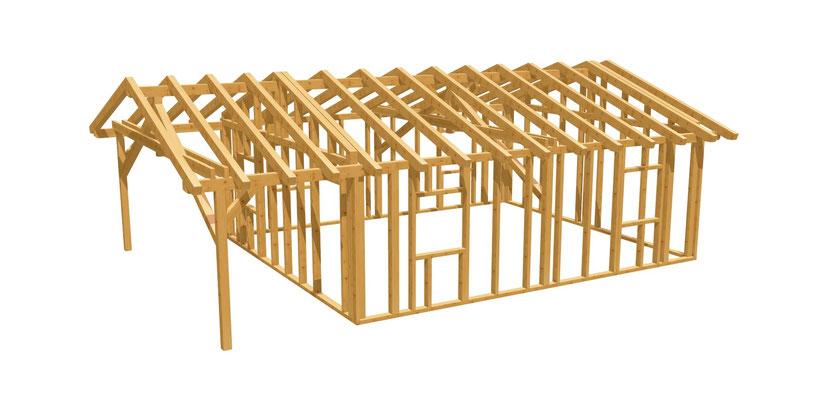 Bauplan Gartenhaus 7m x 6m