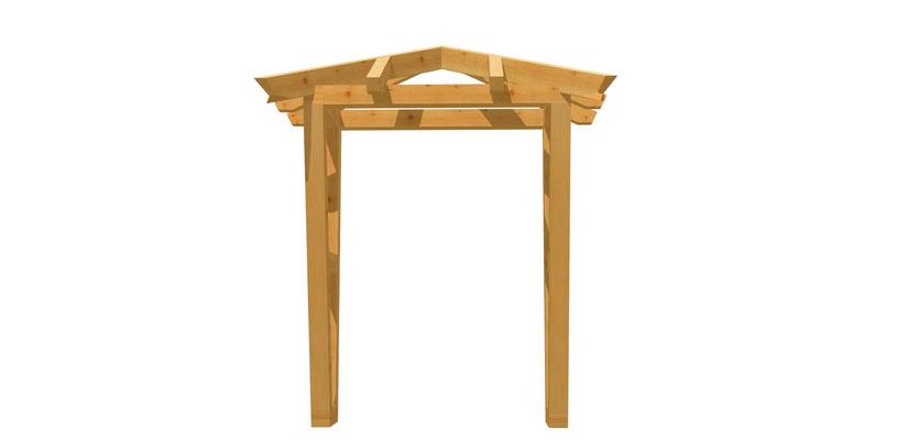 Vordach Holz selber bauen 1,4m x 1,64m