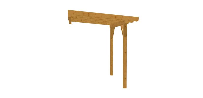 Vordach Holz selber bauen