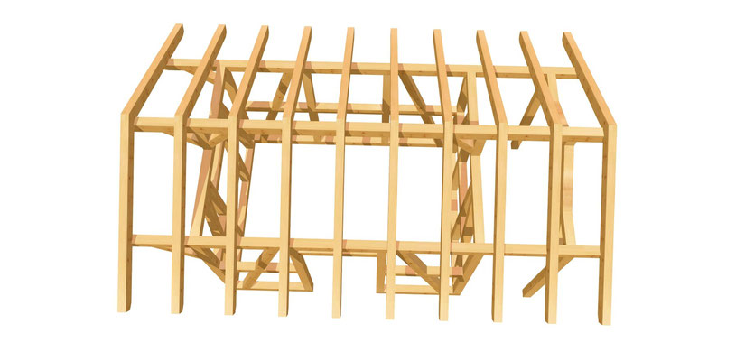 Holz Gartenhaus Bauanleitung 3,65m x 2,75m