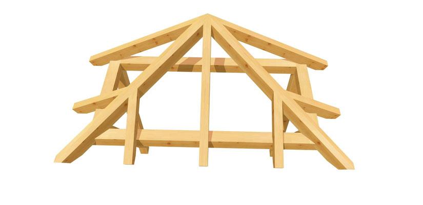 Vordach-Walmdach selber bauen