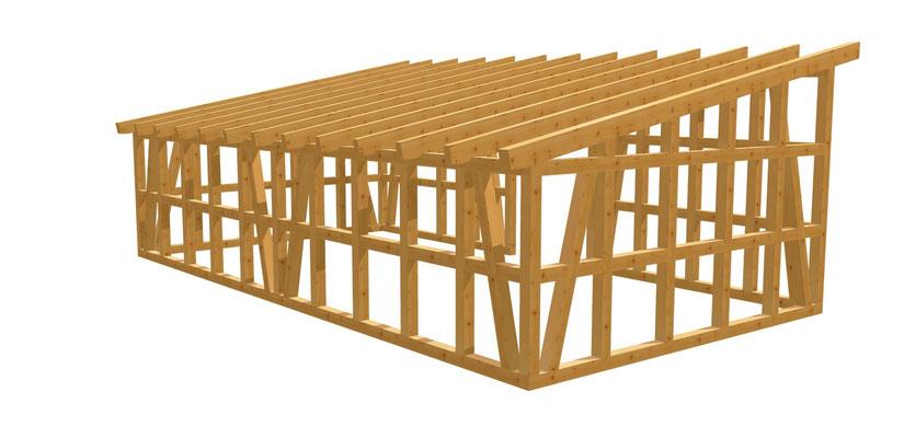 Bauanleitung Gartenhaus Fachwerkhaus 8,5m x 4,5m