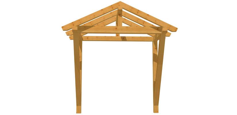 Vordach-Satteldach selber bauen 2m x 2,24m