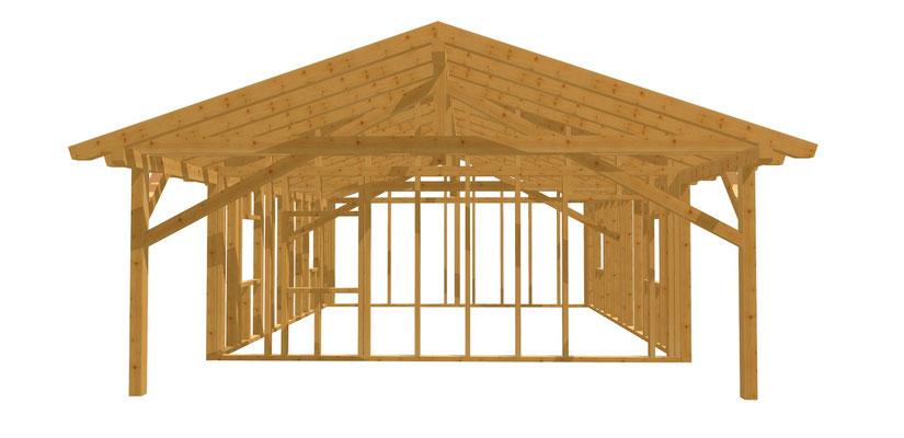 Gartenhaus selber bauen DIY Anleitung 7m x 6m