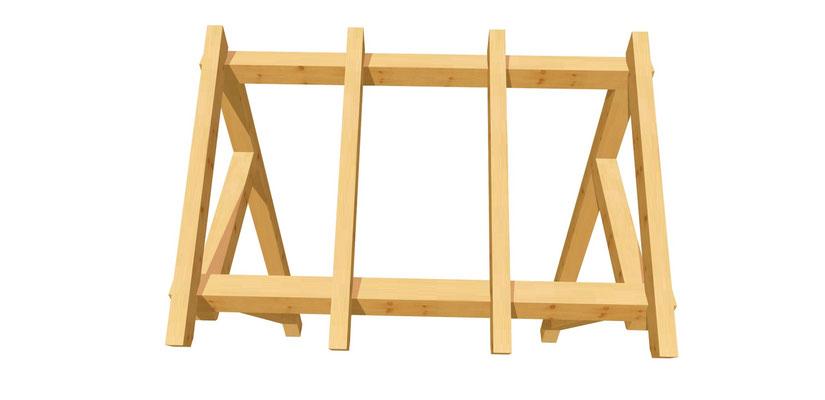 Vordach-Schleppdach Bauanleitung 2m x 2,24m