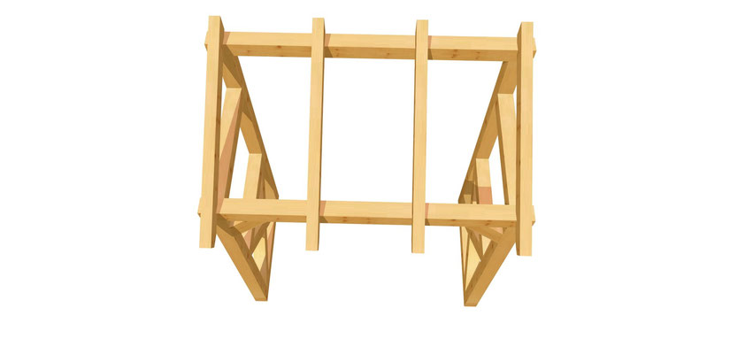 Holz Schleppdach 2m x 2,34m