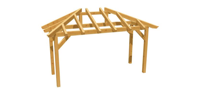 Vordach aus Holz selber bauen
