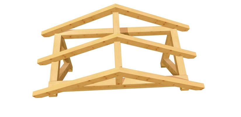 Haustür Vordach selber  bauen 2m x 2,24m