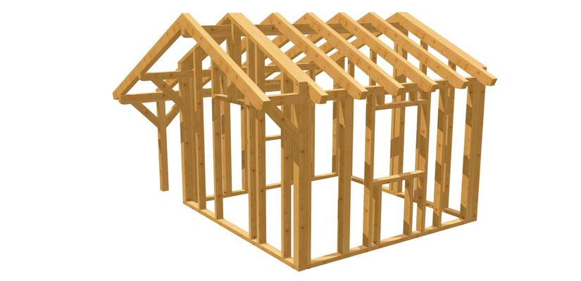 Gartenhaus selber bauen 3,5m x 3,5m