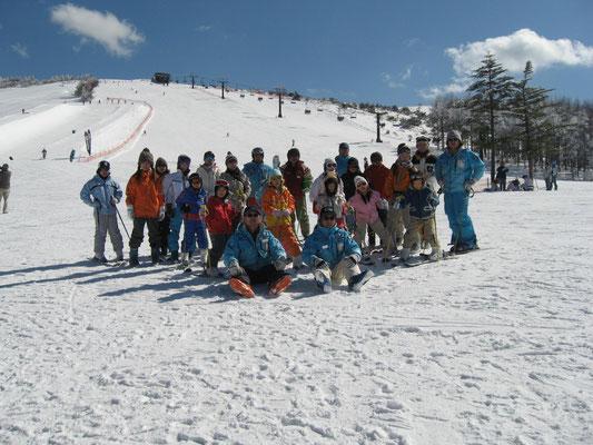 スキー教室集合写真