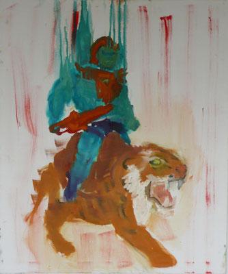 He-Man 2008 95x80 cm Öl auf Leinwand