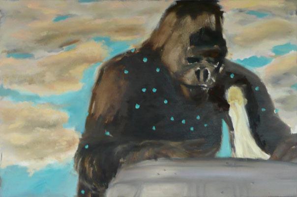 king kong 2 2010 80x90 cm Öl auf Leinwand