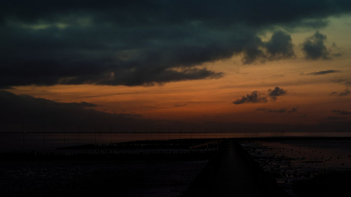 Kurz nach Sonnenuntergang in Spieka-Neufeld