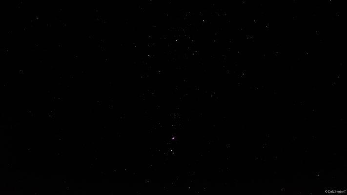 Orion Gürtel mit M42 Nebel (Nordholz 03-02-2019 21:36 95mm f4 ISO3200 1/1.3s)