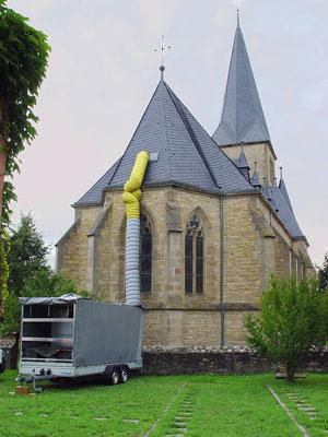 Ev. Kirche Ober Hilbersheim: -Bekämpfender Holzschutz im Heißluftverfahren