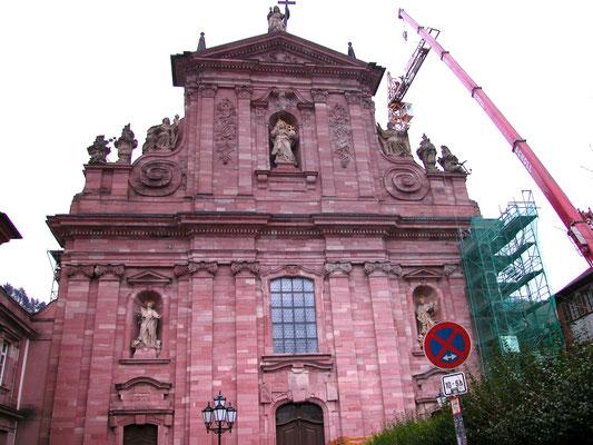 Jesuitenkirche Heidelberg: -Taubenabwehr / -Schwammsanierung