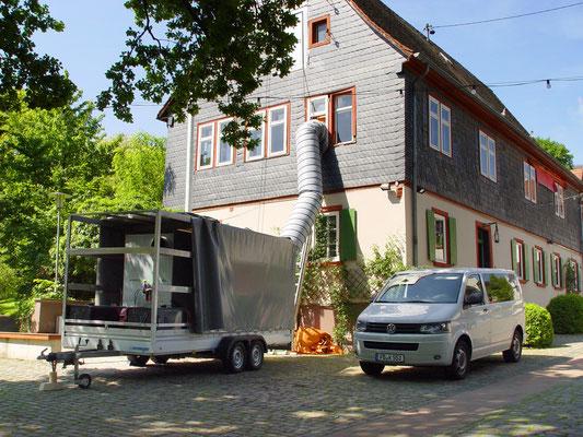 Ehem. Rathaus Gau Bischofsheim: -Bekämpfender Holzschutz im Heißluftverfahren