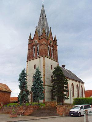 Ev. Kirche Ingenheim / Frankreich: -Bekämpfender Holzschutz im Mikrowellenverfahren
