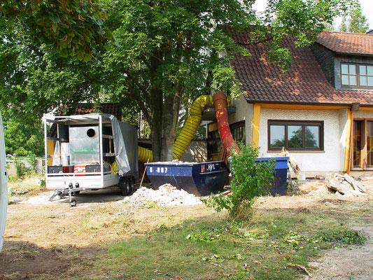Wohnhaus Worms: -Bekämpfender Holzschutz im Heißluftverfahren