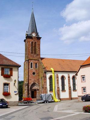 Kath. Kirche Muhlbach sur Bruch / Frankreich: -Bekämpfender Holzschutz im Heißluftverfahren