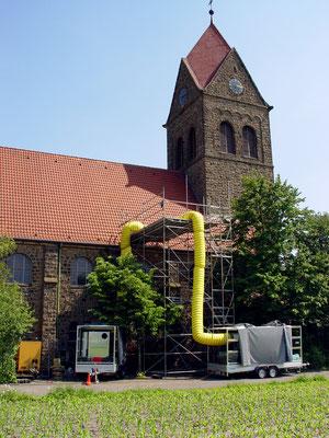 Ev. Kirche Lengeriche Hohne: -Bekämpfender Holzschutz im Heißluftverfahren