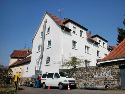 Wohnhaus Friedberg:  -Bekämpfender Holzschutz im Heißluftverfahren