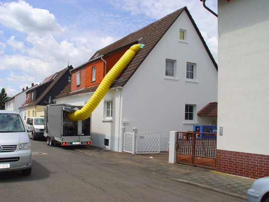 Wohnhaus Hanau: -Bekämpfender Holzschutz im Heißluftverfahren