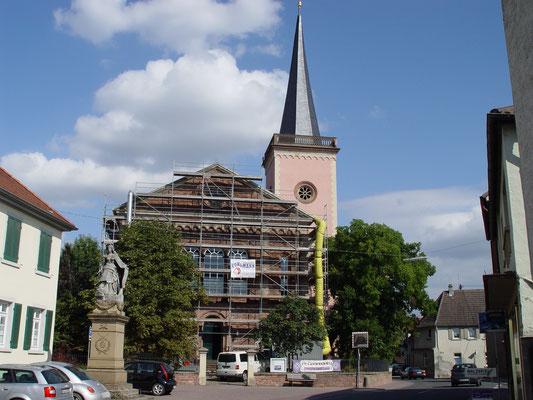 Ev. Kirche Eich: -Bekämpfender Holzschutz im Heißluftverfahren