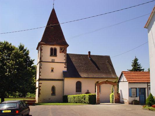 Kirche Olwisheim / Frankreich:  -Bekämpfender und Vorbeugender Holzschutz