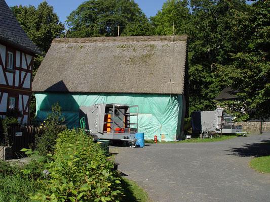 Museumsdorf Hachenburg: -Bekämpfender Holzschutz im Heißluftverfahren
